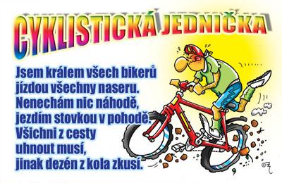 přání k narozeninám pro sportovce Průkaz   Cyklistická jednička přání k narozeninám pro sportovce