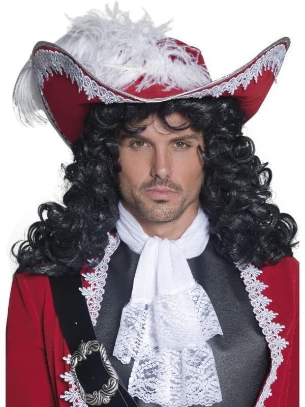 Klobúk Pirátský kapitán červený